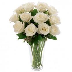 Florero Rosas Blancas