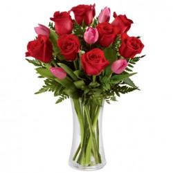 Florero Tulipán Rosas